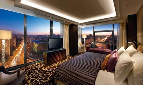 总统套房卧室-鸟瞰长安街街景