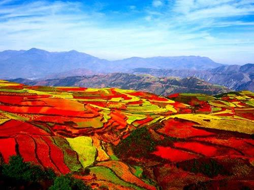 东川红土地美景