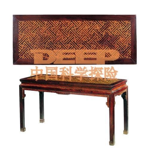 锦地拼面画桌