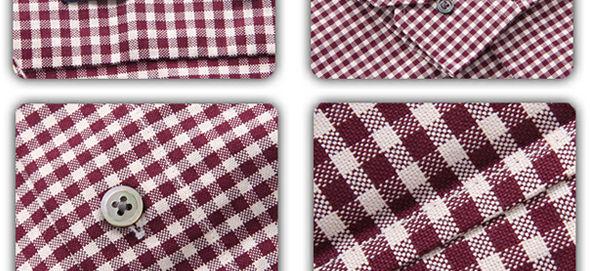 美式洗水细格布衬衫