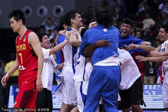 中国男篮低头