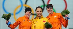 张虹获中国冬奥历史首枚速滑金牌