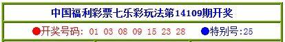 17日七乐彩奖号