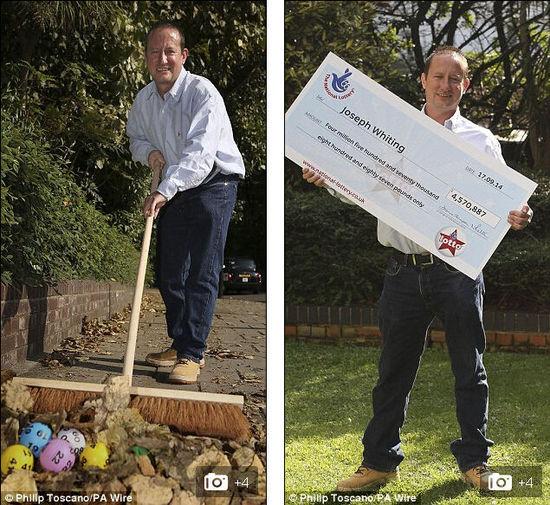 英国马路清洁工赢得千万元彩票大奖
