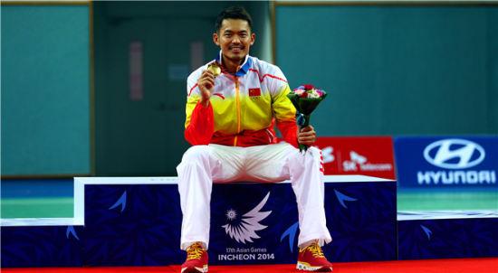 2014年亚运夺冠的林丹