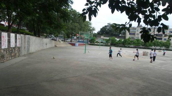 水泥地里踢球