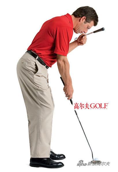 错误! 如果你的头部移动到 了球后方,你的双眼 位置和击球都会偏右