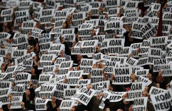 """拜仁球迷是""""Koan Neuer""""始作俑者"""