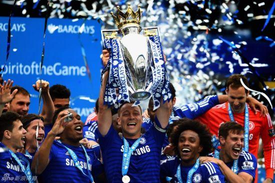 切尔西队夺得英超冠军