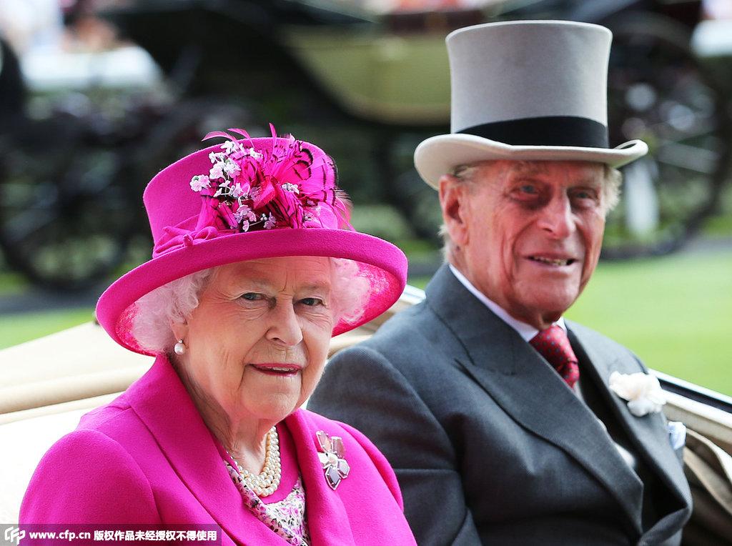 2015英国皇家爱斯科特赛马会 女王入场