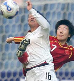 四国赛-博克斯头槌一击致命女足0-1美国屈居亚军