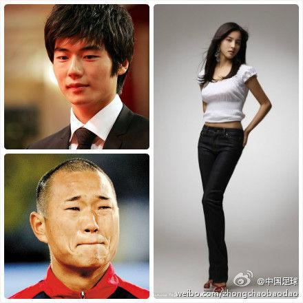 寄诚庸(左上)、郑大世与韩惠珍