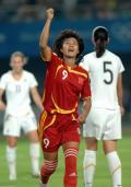 图文-[热身赛]女足1-0新西兰 韩端头球闪电定局
