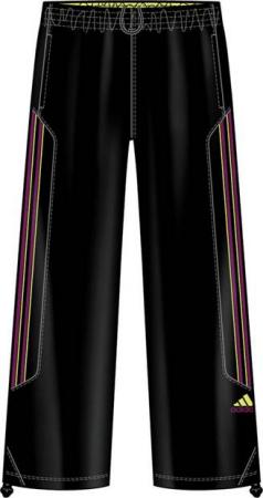 阿迪达斯 长裤 P83174黑/奇迹荧光绿