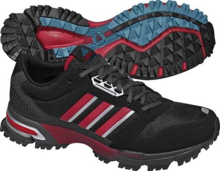 阿迪达斯 跑步鞋 G23744/一号黑/校园红/深褐灰