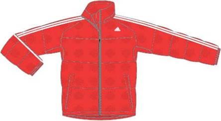 阿迪达斯 羽绒服 U35782红/白