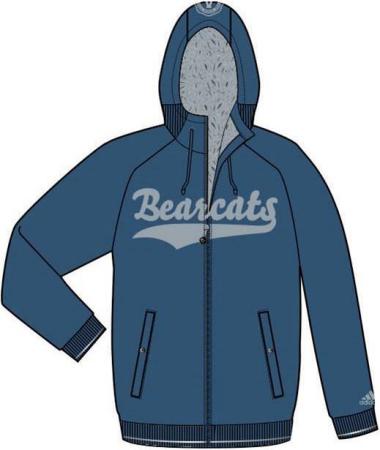 阿迪达斯 羊绒夹克 P85398深蓝/宇宙灰