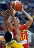 图文-[钻石杯]中国55-67澳大利亚 李楠情绪高涨