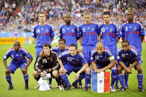 图文-[欧洲杯]法国VS意大利法国队首发合影