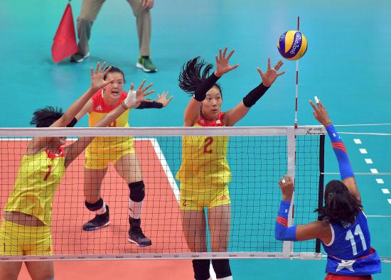 里约奥运会女排比赛第四日 零封波多黎各图片