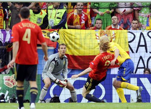 图文-[欧洲杯]瑞典VS西班牙托雷斯攻破瑞典大门