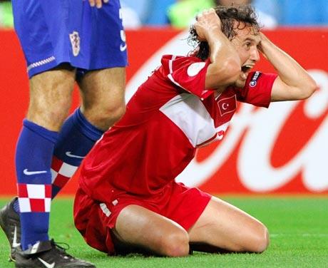 图文-[欧洲杯]克罗地亚VS土耳其他为什么如此懊悔
