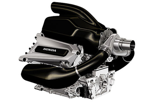 本田2015款F1引擎3D图。