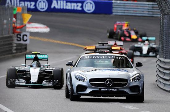 F1摩纳哥大奖赛安全车带队