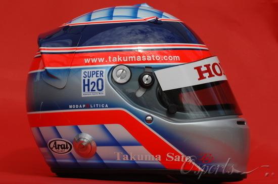 图文-2008赛季F1车手肖像及头盔佐藤琢磨的头盔