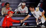 图文-F1西班牙站周四新闻发布会阿隆索欢迎莱科宁