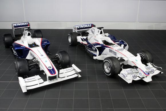 图文-宝马-索伯发布F1.09与前作F1.08对比图