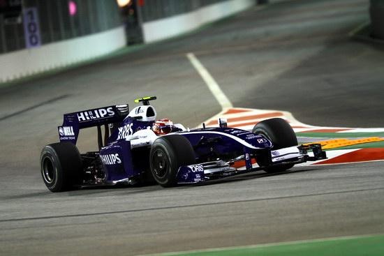 图文-F1新加坡站第1次练习威廉姆斯车手中岛一贵