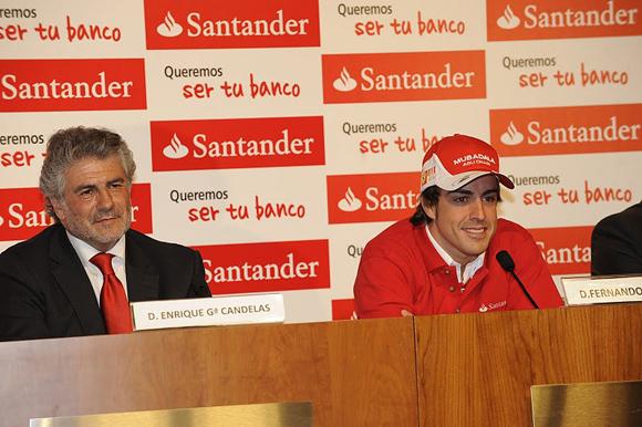 图文-阿隆索签约个人赞助商阿隆索和Garcia-Candela