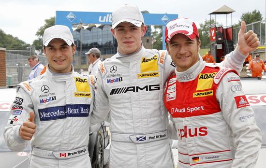 图文-DTM英国布兰兹哈奇站排位赛前三名车手