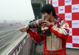崔岳庆祝首回合胜利