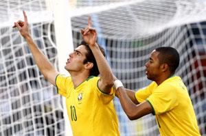 联合会杯-卡卡梅开二度绝杀非洲冠军巴西4-3险胜