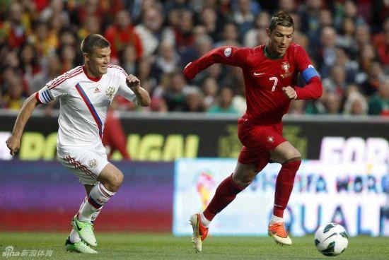 C罗代表国家队出战世界杯预选赛,结果葡萄牙1比0小胜俄罗斯