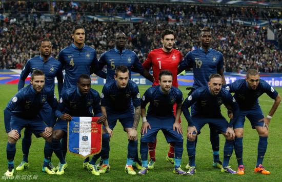 法国队合影
