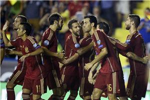 欧预赛-新9号传射巴萨双星破门西班牙5-1大胜