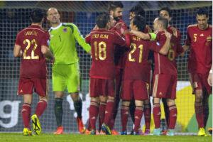 欧预赛-科斯塔处子球破荒席尔瓦传射西班牙4-0胜