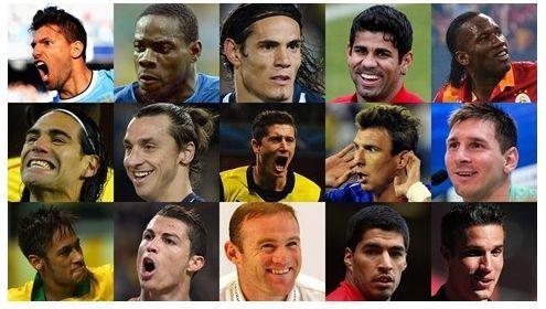FIFA公布的世界最佳前锋15人候选名单
