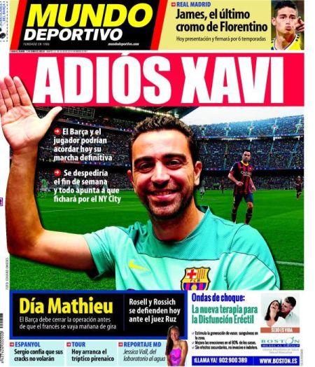 《世界体育报》封面:再见了,哈维