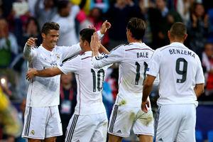 欧洲超级杯-C罗2球贝尔助攻皇马2-0塞维利亚夺冠