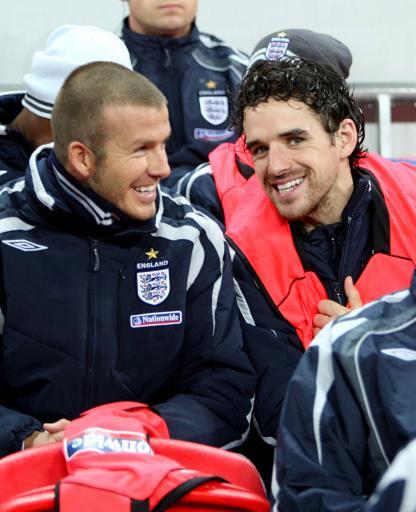 图文-[欧预赛]英格兰vs克罗地亚他俩在笑麦克拉伦?