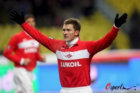 图文-[联盟杯]莫斯科斯巴达2-0马赛帕夫连科很得意