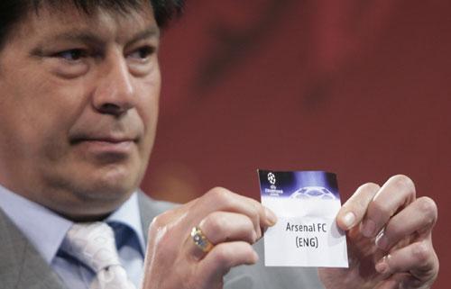 图文-冠军杯八强抽签仪式他让阿森纳碰利物浦