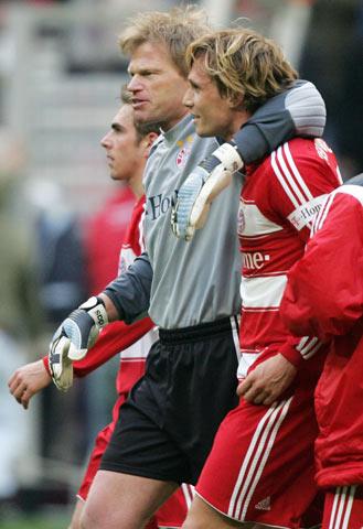 图文-[拜仁]拜仁慕尼黑3-1波鸿卡恩失球心情照样好