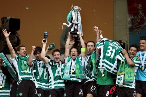 图文-葡萄牙杯里斯本竞技夺冠力压劲敌波尔图登顶