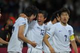 韩国队庆祝进球