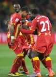 加纳队进球后庆祝